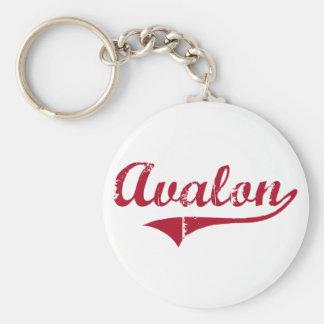 Diseño clásico de Avalon New Jersey Llavero Personalizado