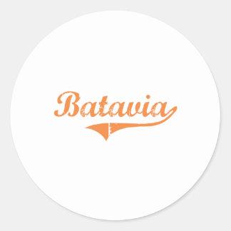Diseño clásico de Batavia Illinois Pegatinas Redondas