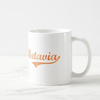 Diseño clásico de Batavia Illinois Taza Básica Blanca