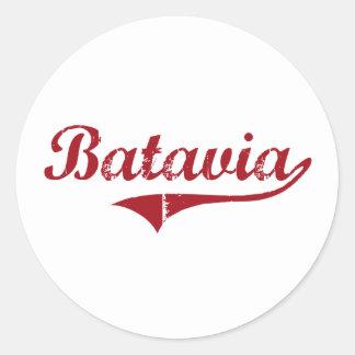 Diseño clásico de Batavia Ohio Pegatina Redonda