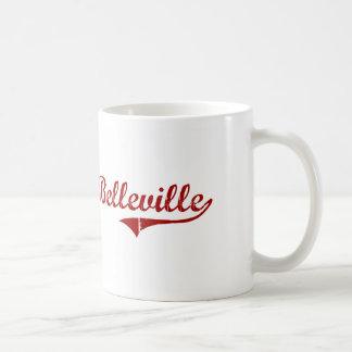 Diseño clásico de Belleville Wisconsin Tazas De Café