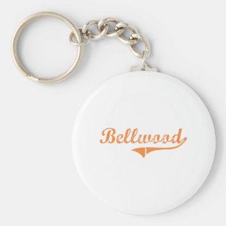 Diseño clásico de Bellwood Illinois Llavero Redondo Tipo Pin