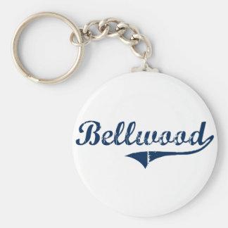 Diseño clásico de Bellwood Pennsylvania Llaveros Personalizados