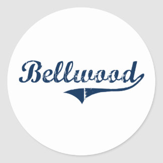 Diseño clásico de Bellwood Pennsylvania Etiquetas