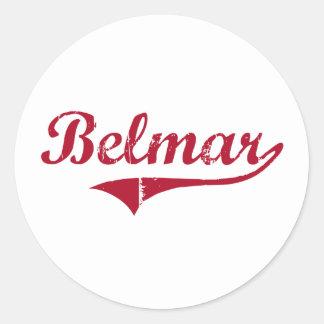 Diseño clásico de Belmar New Jersey Pegatina Redonda