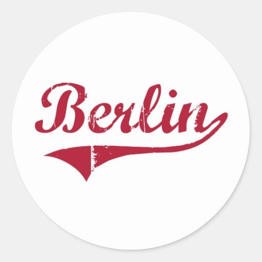 Diseño clásico de Berlín New Jersey Etiquetas Redondas