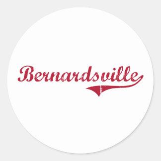 Diseño clásico de Bernardsville New Jersey Pegatinas Redondas