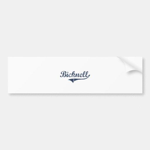 Diseño clásico de Bicknell Utah Pegatina De Parachoque