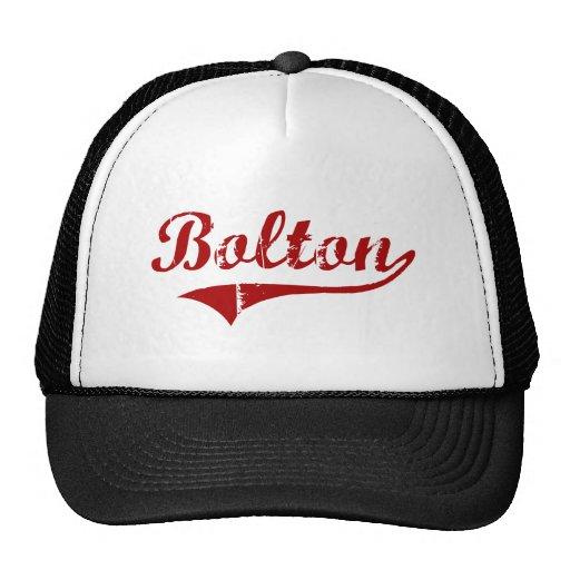 Diseño clásico de Bolton Massachusetts Gorros Bordados