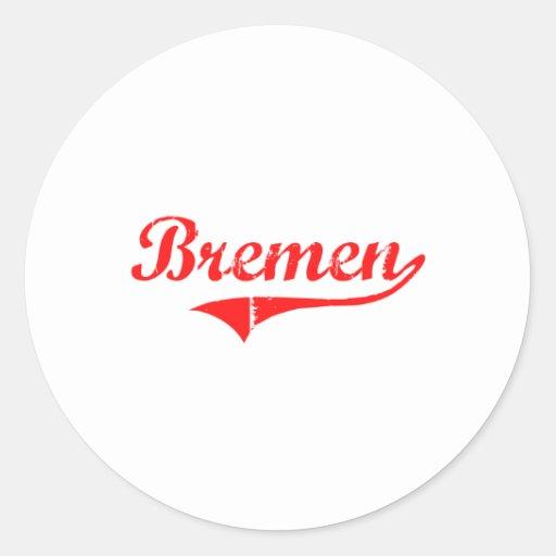 Diseño clásico de Bremen Georgia Etiquetas Redondas