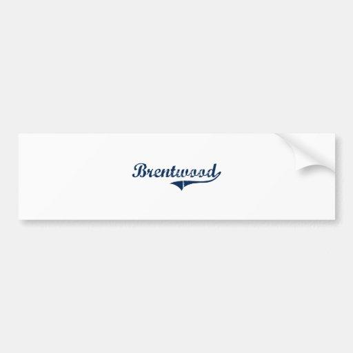 Diseño clásico de Brentwood Pennsylvania Pegatina De Parachoque
