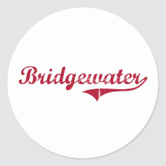 Diseño clásico de Bridgewater New Jersey Pegatinas Redondas
