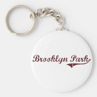 Diseño clásico de Brooklyn Park Minnesota Llaveros Personalizados