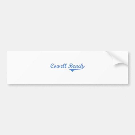Diseño clásico de California de la playa de Cowell Etiqueta De Parachoque