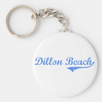 Diseño clásico de California de la playa de Dillon Llaveros Personalizados