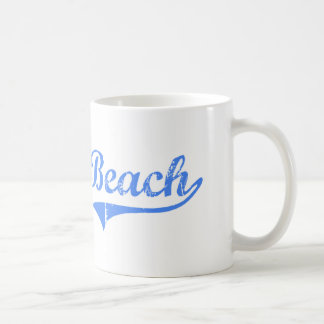 Diseño clásico de California de la playa de Dillon Tazas De Café