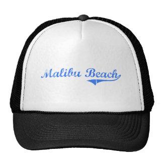 Diseño clásico de California de la playa de Malibu Gorro De Camionero