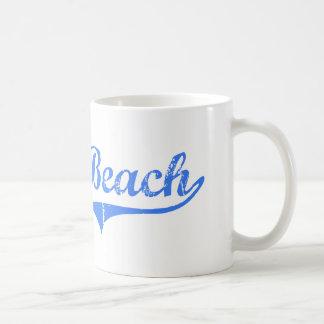 Diseño clásico de California de la playa del musgo Taza