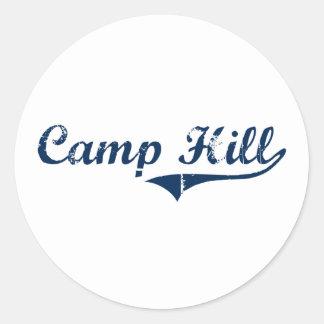 Diseño clásico de Camp Hill Pennsylvania Etiqueta Redonda