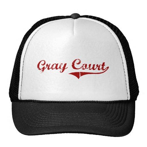Diseño clásico de Carolina del Sur de la corte gri Gorra