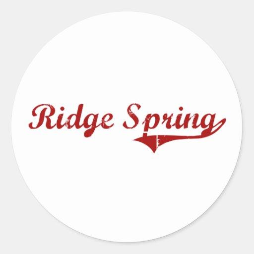Diseño clásico de Carolina del Sur de la primavera Pegatina Redonda