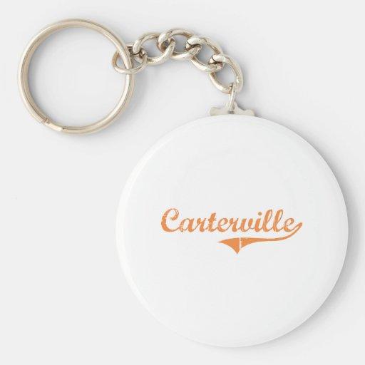 Diseño clásico de Carterville Illinois Llavero Personalizado