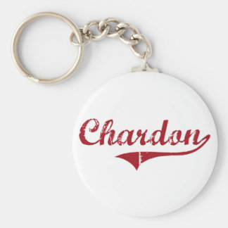 Diseño clásico de Chardon Ohio Llavero Personalizado