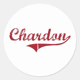 Diseño clásico de Chardon Ohio Pegatina
