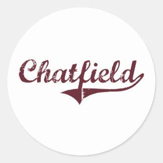 Diseño clásico de Chatfield Minnesota Pegatinas Redondas