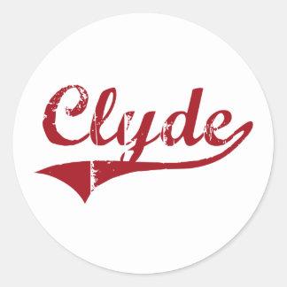 Diseño clásico de Clyde Ohio Pegatinas Redondas