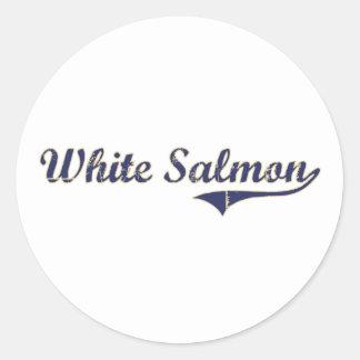 Diseño clásico de color salmón blanco de Washingto Pegatina