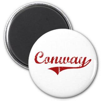 Diseño clásico de Conway Carolina del Sur Imán Redondo 5 Cm