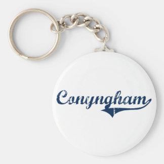 Diseño clásico de Conyngham Pennsylvania Llavero Redondo Tipo Pin