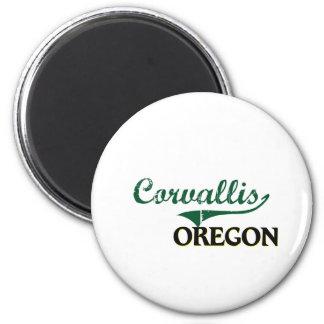 Diseño clásico de Corvallis Oregon Imán Redondo 5 Cm