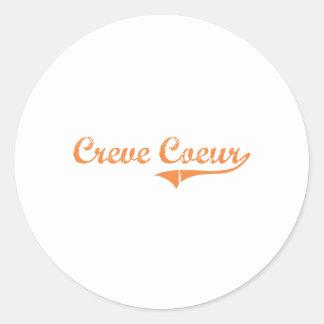 Diseño clásico de Creve Coeur Illinois Etiquetas Redondas