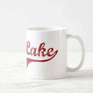Diseño clásico de Dakota del Sur del lago claro Taza De Café