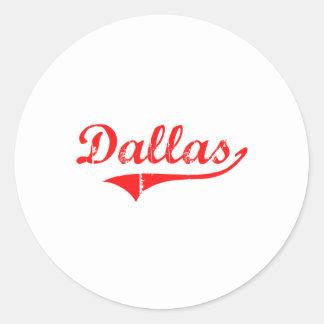 Diseño clásico de Dallas Georgia Pegatina Redonda