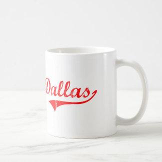 Diseño clásico de Dallas Georgia Taza Básica Blanca