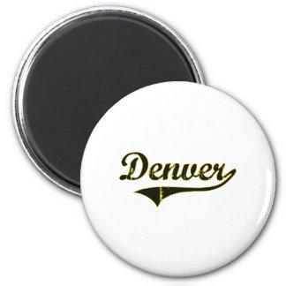 Diseño clásico de Denver Iowa Imán Redondo 5 Cm