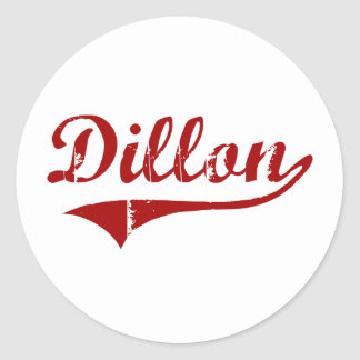 Diseño clásico de Dillon Carolina del Sur Etiqueta