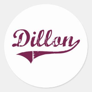 Diseño clásico de Dillon Montana Etiquetas