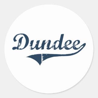 Diseño clásico de Dundee Nueva York Pegatinas Redondas