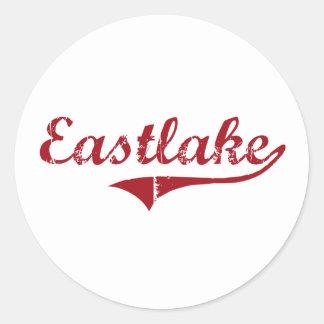 Diseño clásico de Eastlake Ohio Pegatina Redonda