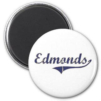 Diseño clásico de Edmonds Washington Imán Redondo 5 Cm