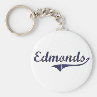 Diseño clásico de Edmonds Washington Llavero Redondo Tipo Pin