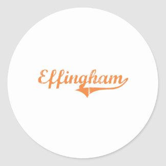 Diseño clásico de Effingham Illinois Pegatinas