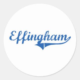 Diseño clásico de Effingham New Hampshire Etiquetas