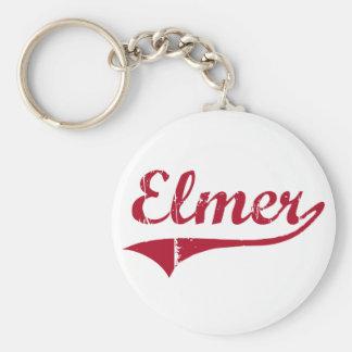 Diseño clásico de Elmer New Jersey Llavero Redondo Tipo Pin