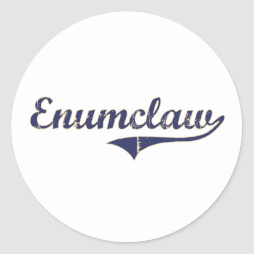 Diseño clásico de Enumclaw Washington Etiqueta
