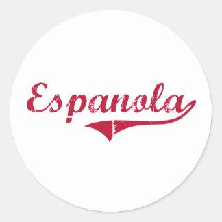 Diseño clásico de Espanola New México Etiquetas
